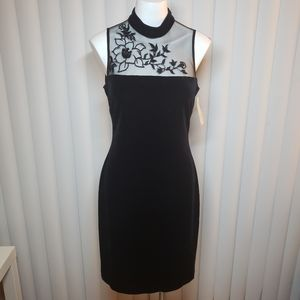 Evan-Picone sequined black dress